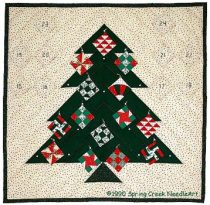 Quilter's Advent Tree Quilt Pattern