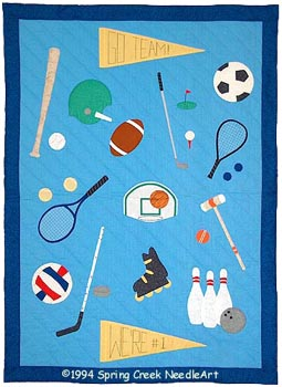 The Sports Quilt pattern