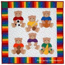 Sports Bears Quilt Pattern